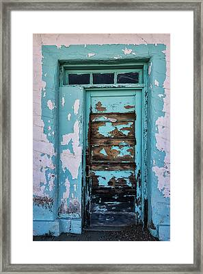 Framed Print featuring the photograph Vintage Turquoise Door  by Saija Lehtonen