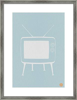 Vintage Tv Poster Framed Print by Naxart Studio