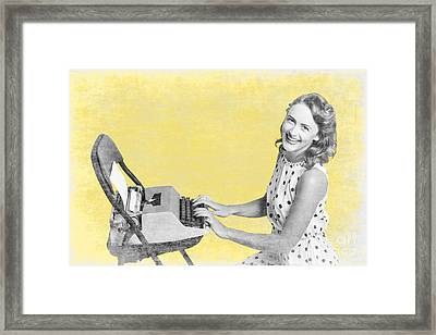 Vintage Typewriter Advertising Framed Print