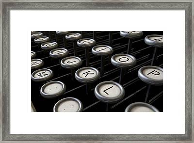 Vintage Typewriter Keys Close Up Framed Print