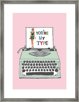 Vintage Typewriter Love Letter Framed Print by Colleen VT