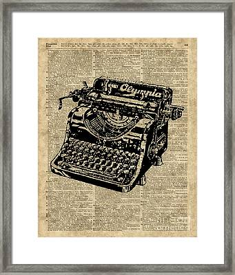 Vintage Typewritter  Framed Print by Jacob Kuch