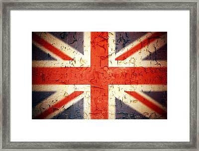Vintage Union Jack Framed Print by Jane Rix