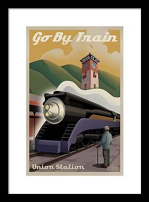 Steam Locomotive Framed Prints