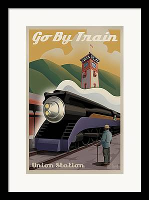 Union Pacific Framed Prints