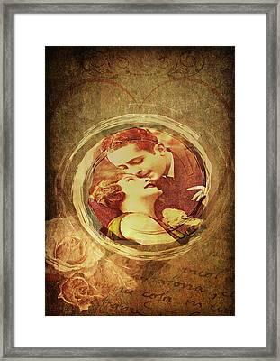Vintage Valentine Framed Print