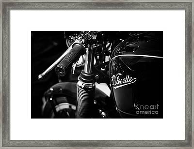 Vintage Velocette Framed Print by Tim Gainey