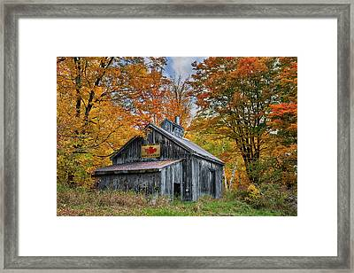 Framed Print featuring the photograph Vermont Sugarhouse by Expressive Landscapes Fine Art Photography by Thom