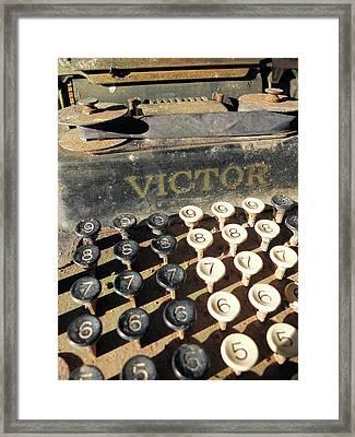 Vintage Victor Framed Print by Scott Kingery