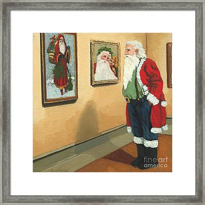 Vintage Victorian - Museum Santa Framed Print