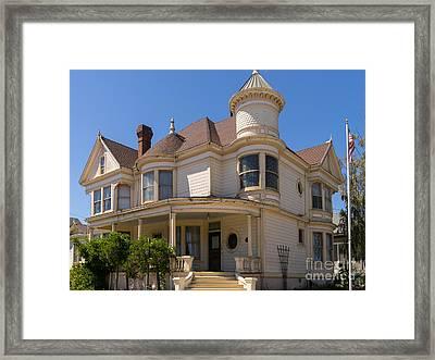 Vintage Victorian House Petaluma California Usa Dsc3814 Framed Print by Wingsdomain Art and Photography