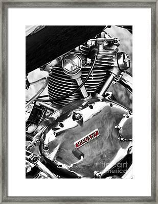 Vintage Vincent Comet Engine Framed Print
