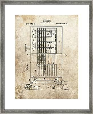 Vintage Voting Machine Patent Framed Print