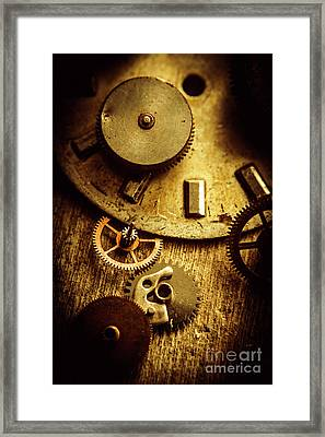 Vintage Watch Parts Framed Print by Jorgo Photography - Wall Art Gallery