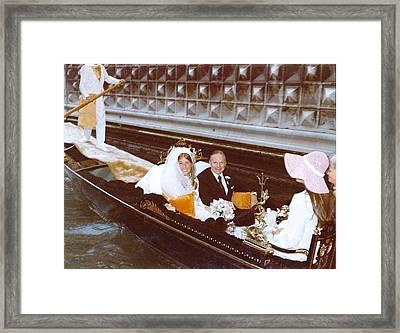 Vintage Water Romance Framed Print