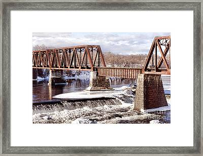 Vintage Waterville Rail Bridge Framed Print by Olivier Le Queinec