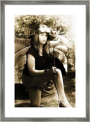 Vintage Welding Framed Print