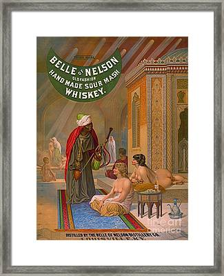 Vintage Whiskey Ad 1883 Framed Print