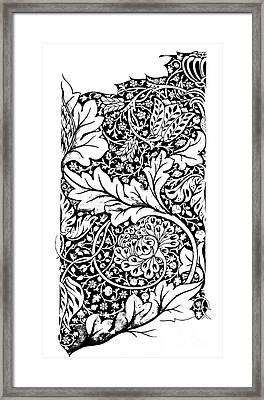 Vintage William Morris Textile Pattern Design Framed Print