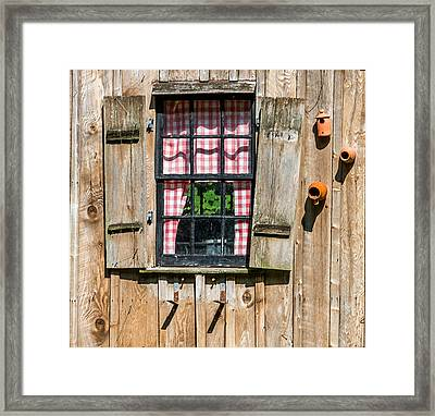 Vintage Window Cuttalossa Farm Pa Framed Print