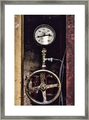 Vintage Wine Making Gauges  Framed Print
