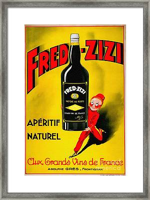 Vintage Wine Poster - 1932 France Framed Print by Ian Gledhill