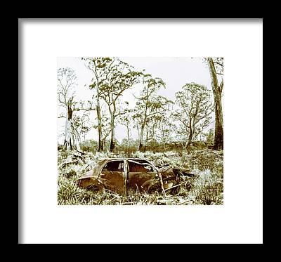 Wreckage Framed Prints