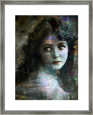 Vintage Woman Pop With Modern Highlights Sepia Vertical  Framed Print