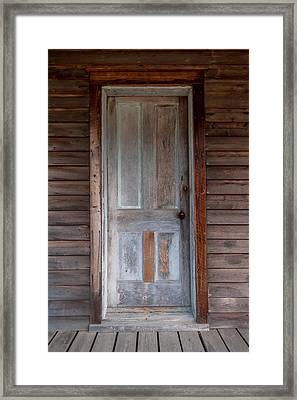 Vintage Wood Door  Framed Print by Terry DeLuco