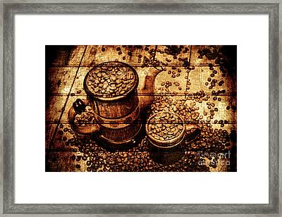 Vintage Wooden Coffee Shop Sign Framed Print by Jorgo Photography - Wall Art Gallery