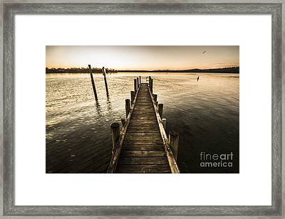 Vintage Wooden Pier Framed Print by Jorgo Photography - Wall Art Gallery