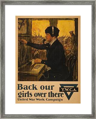 Vintage Ywca Framed Print by Vintage Pix