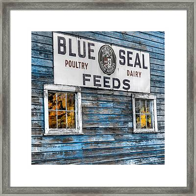 Vintage Feed Sign Framed Print by Bill Wakeley