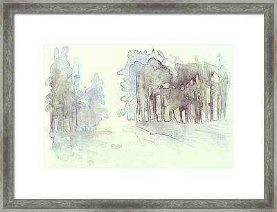Vintrig Skogsglanta, A Wintry Glade In The Woods 2,83 Mb_0047 Up To 60 X 40 Cm Framed Print