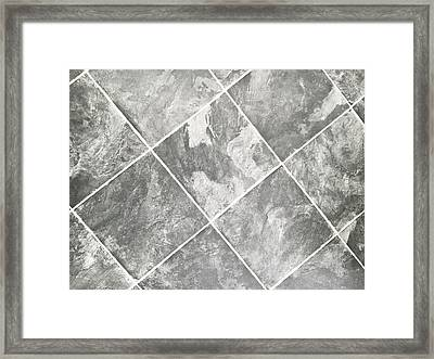 Viny Tiles Framed Print by Tom Gowanlock