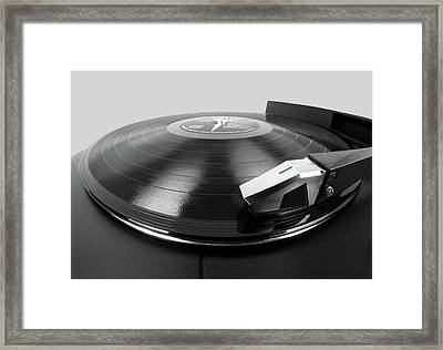 Vinyl Lp And Turntable Framed Print by Jim Hughes