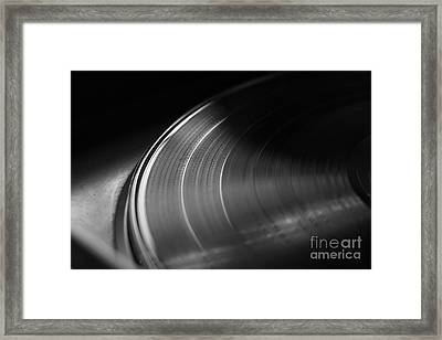 Vinyl Record And Turntable Framed Print