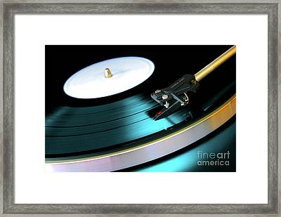 Framed Print featuring the photograph Vinyl Record by Carlos Caetano