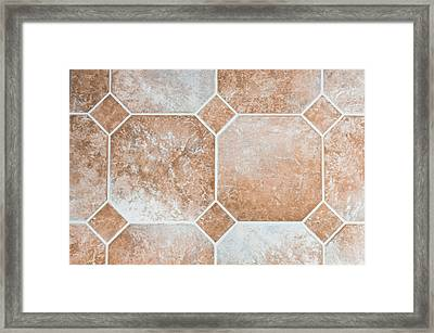 Vinyl Tiles Framed Print by Tom Gowanlock