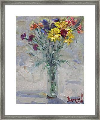 Viola's Flowers Framed Print by Ylli Haruni