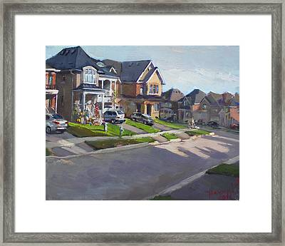 Viola's House In Georgetown On Framed Print by Ylli Haruni