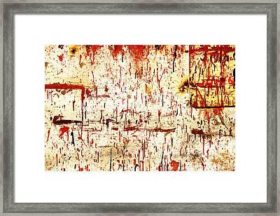 Violent Red Framed Print