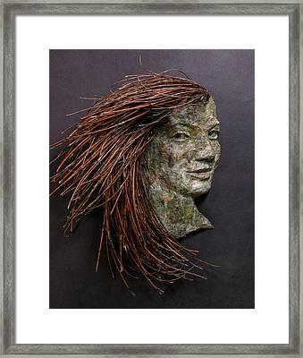 Violet A Relief Sculpture By Adam Long Framed Print by Adam Long