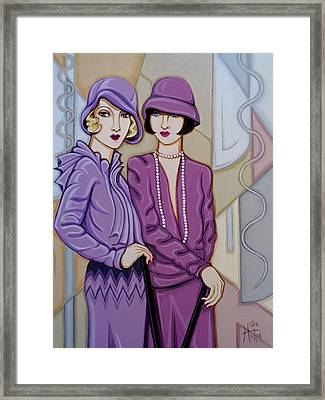 Violet And Rose Framed Print by Tara Hutton