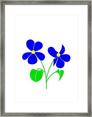 Violet Framed Print by Asbjorn Lonvig