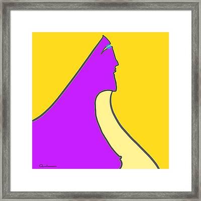 Violet Blonde Framed Print