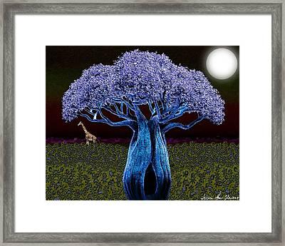 Violet Blue Baobab Framed Print