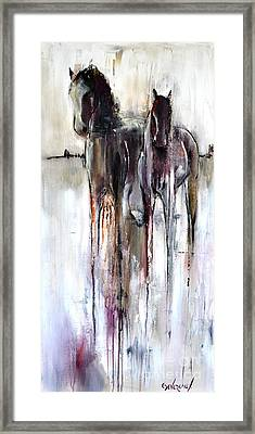 Framed Print featuring the painting Violet Mirage by Cher Devereaux