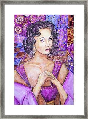 Violet Eyes - Liz Taylor Framed Print by Nik Helbig