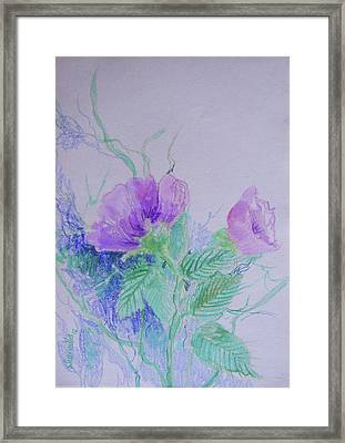 Violet Flowers Framed Print by Sharmila L